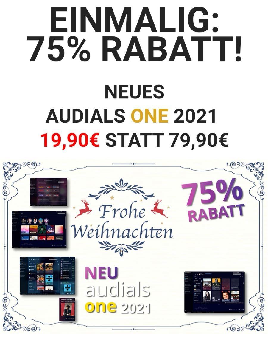 Audials One 2021 [download] für 19,99€ [billiger mit Fremdwährungen, ~6,30€ mit türkischen Lira]