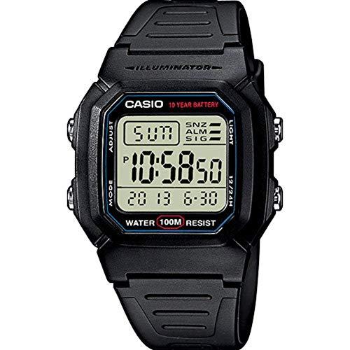 Uhr: Casio w-800h-1Aves 100M Wasserdicht. Amazon Prime