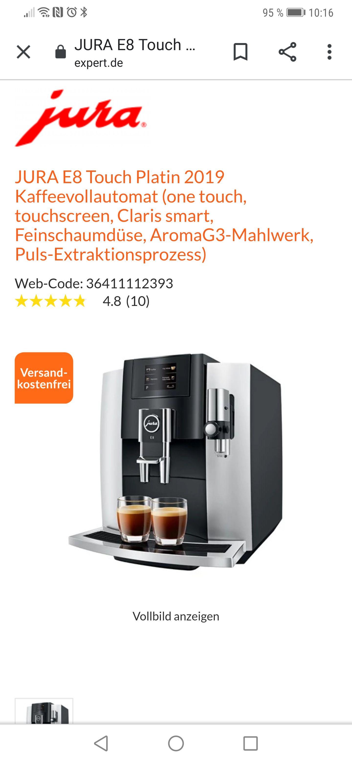Jura E8 Modell 2019 Kaffeevollautomat