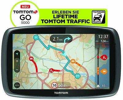 TomTom GO 5000 M Europa Lifetime HD-Traffic + Free 3D Maps EU XXL Tap&Go GPS (Refurbished) Neupreis 219€