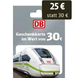 [Netto MD] Deutsche Bahn 30€ Geschenkkarte für 25€ - bis 09.01.2021