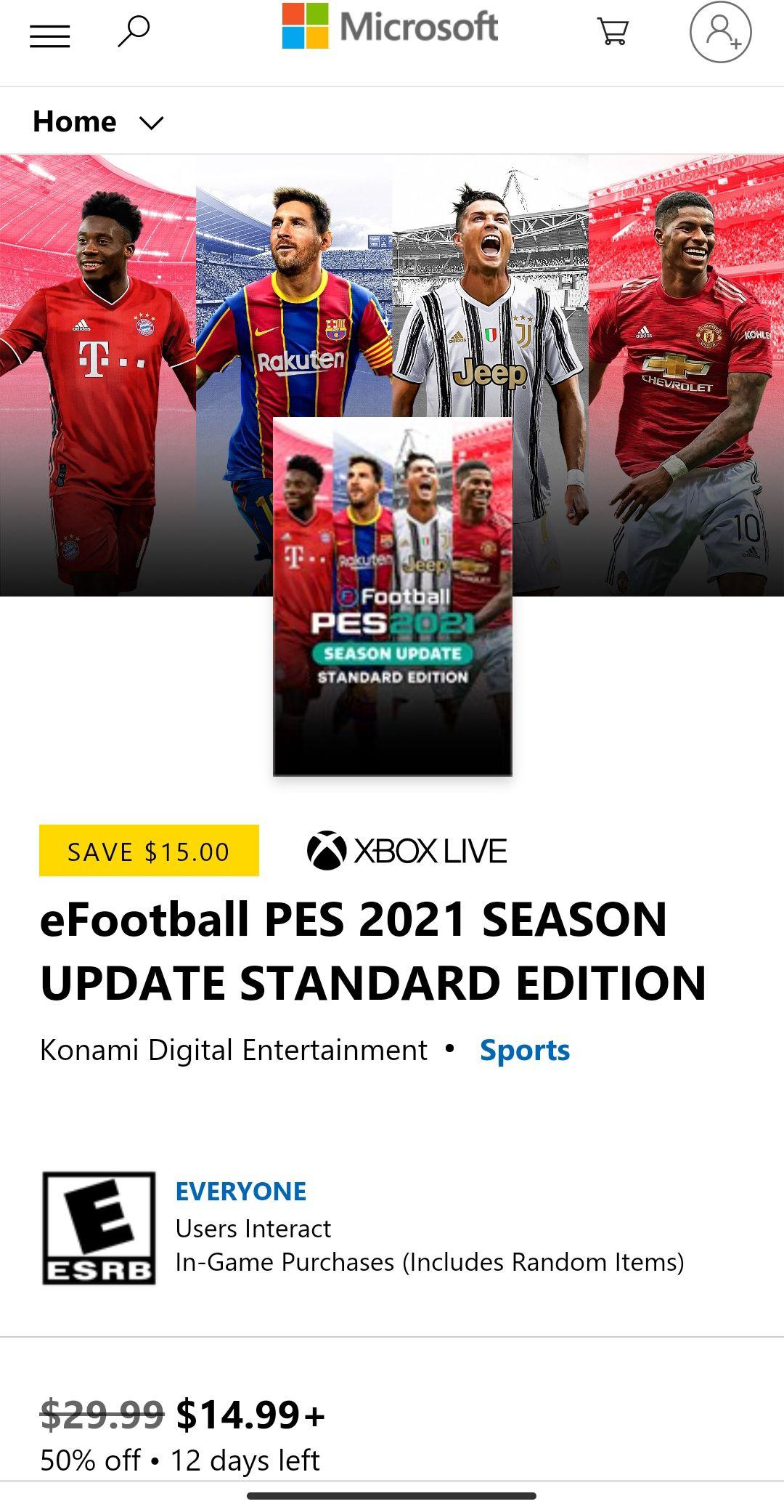 eFootball PES 2021 SEASON UPDATE Xbox