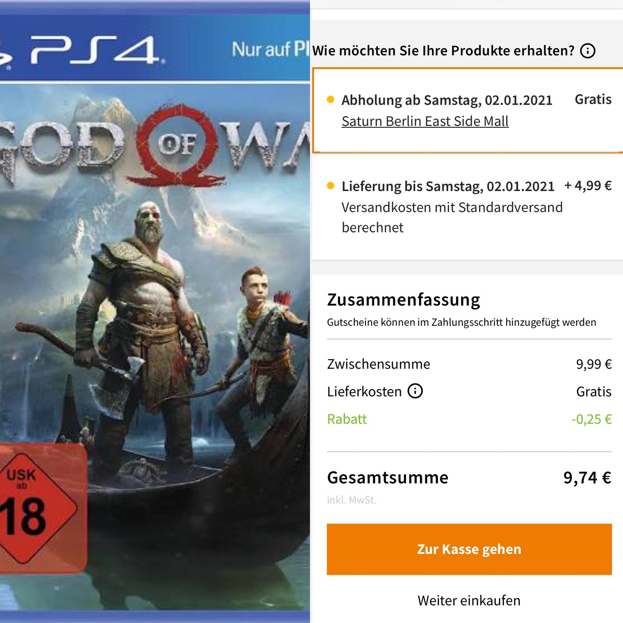 God of War PS4 / Saturn Abholung