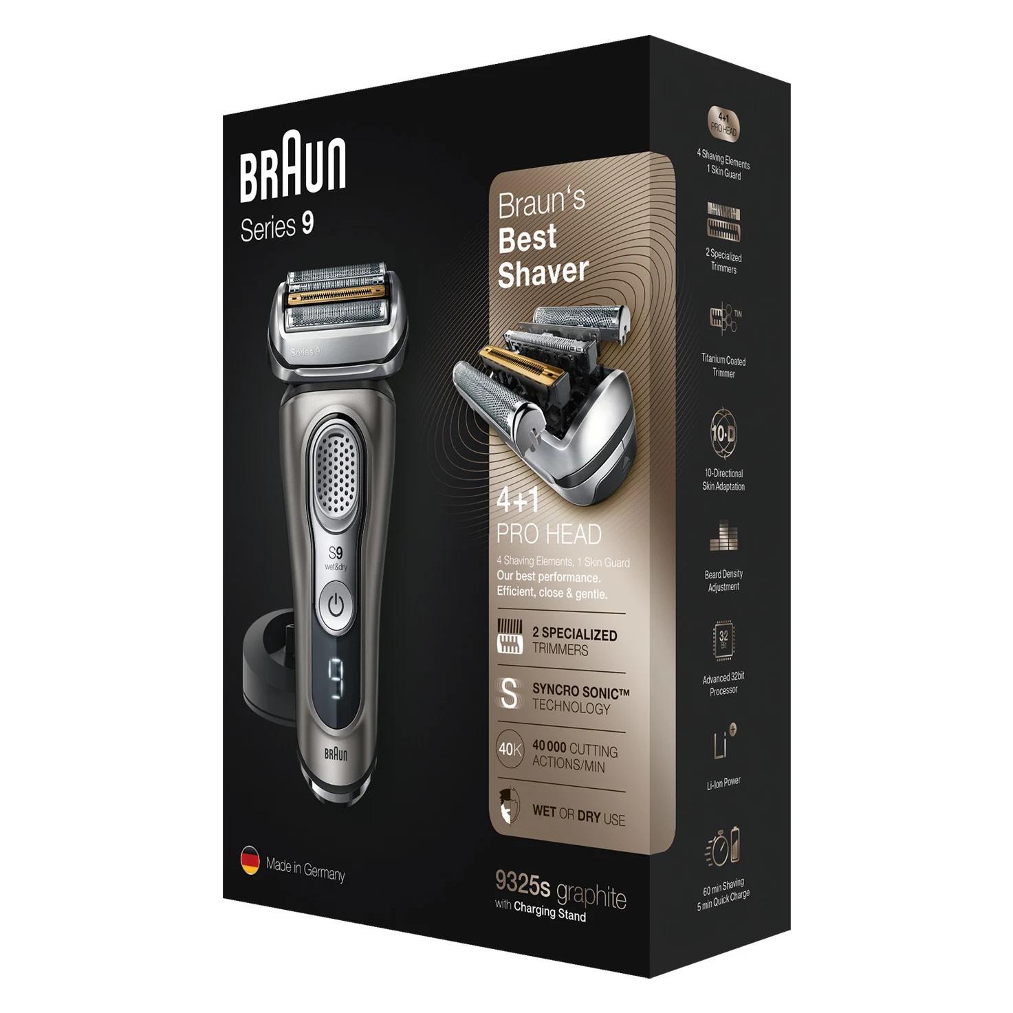 Media Markt: Spitzen-Rasierapparat Braun Series 9 9325s mit Ladestation, ohne Reinigungsstation, durch Cashback effektiv nur 149,11 Euro!
