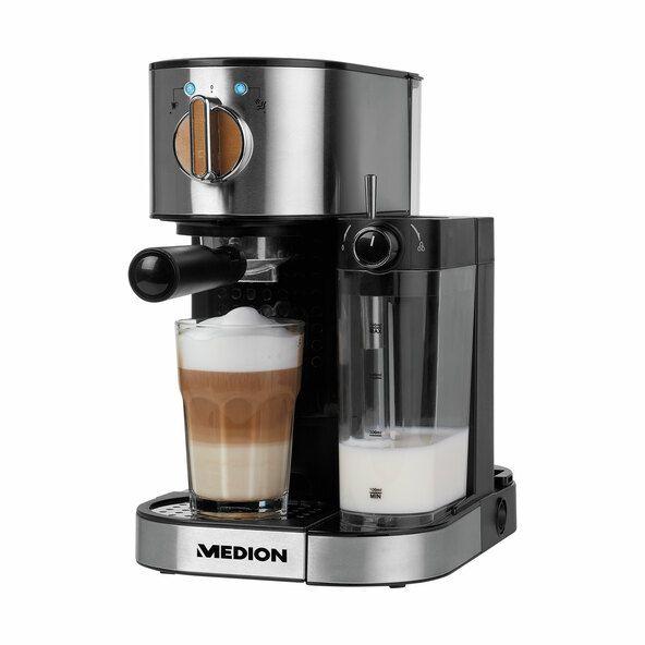 Espressomaschine MEDION® MD 17116, mit Milchaufschäumer