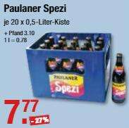 Paulaner Spezi 20 x 0.5l für 7,77 € (+ Pfand) @ V-Märkte München/Schwaben und Oberbayern ab 31.12.
