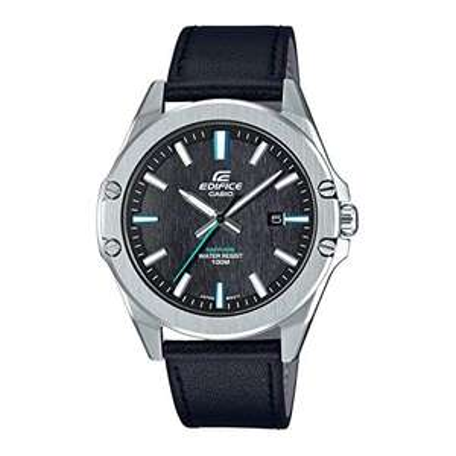 Casio Edifice Uhr mit Leder Armband EFR-S107L-1AVUEF