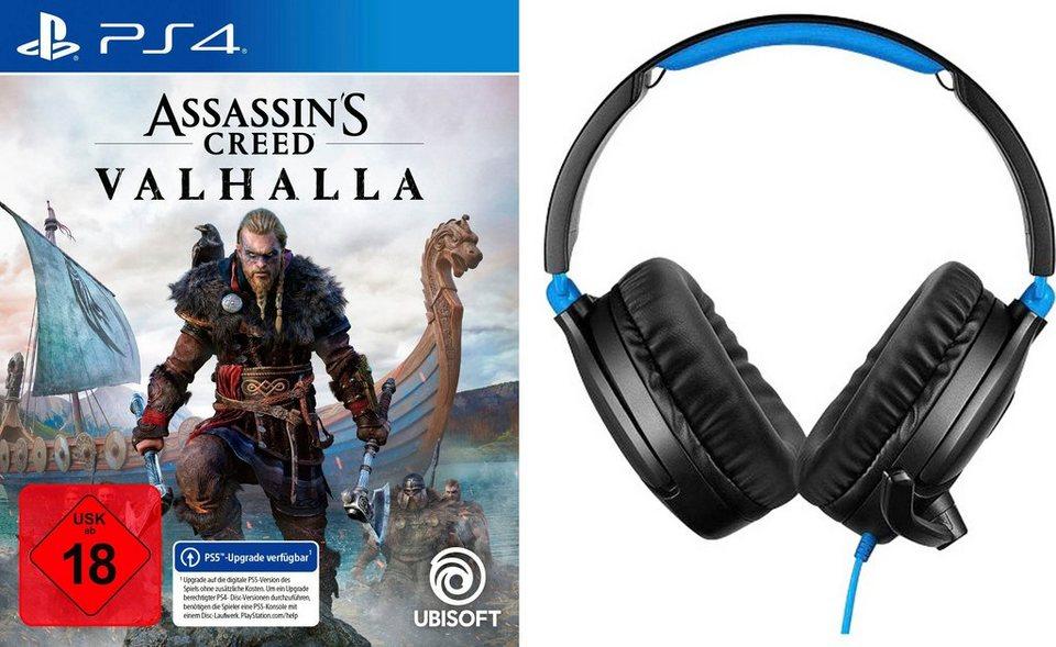 PlayStation 4 / Xbox One / Assasin's Creed, Watch Dogs Legion + Headset Turtle Beach Ear Force (Fifa 21 + BVB Headset u. Star Wars, GTA V)