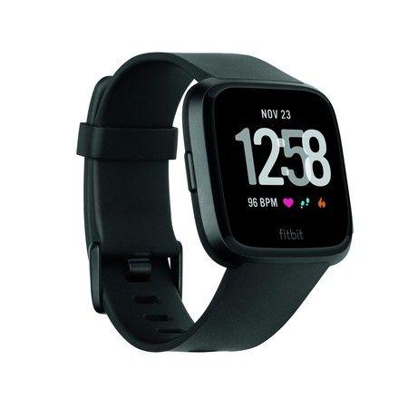 Fitbit Versa schwarz Smartwatch (Schrittzähler, Kalorienerfassung, Herzfrequenzmessung, bis zu 4 Tage Akkulaufzeit) [expert]
