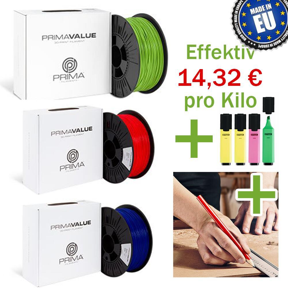 PrimaValue PLA - Sehr gute Filament Preise mit Gutschein möglich + kostenlose Giveaways