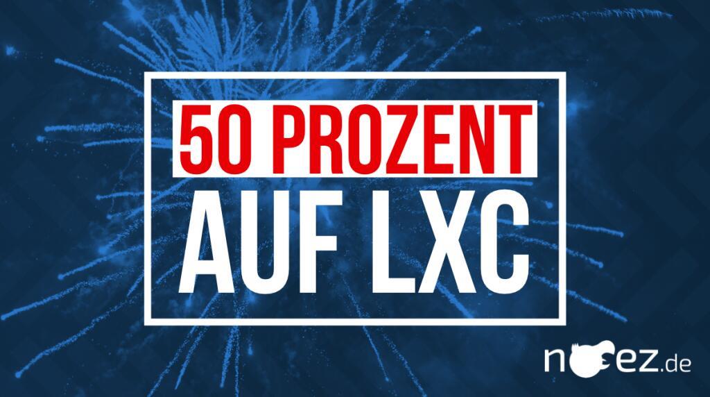50 % Rabatt auf alle LXC VPS (Linux vServer)