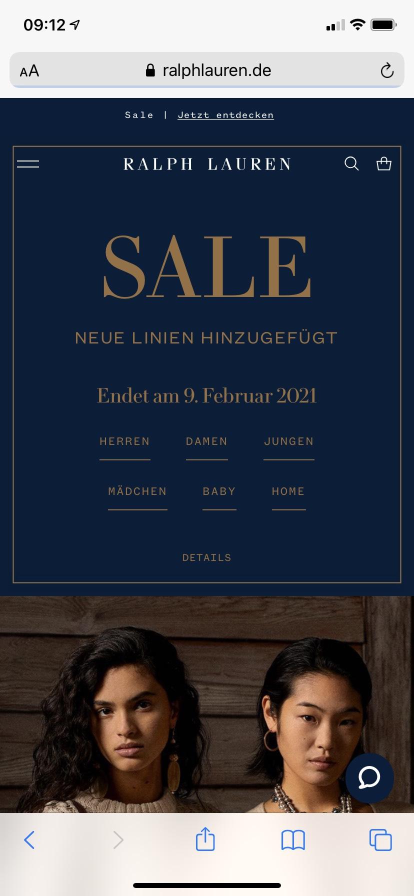 Bis 50% im Ralph Lauren online Shop