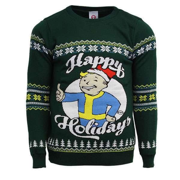 Fallout Official Happy Holidays Ugly Christmas Sweater in Zwergengröße (XS und S) für 10,94€ @ mygeekbox