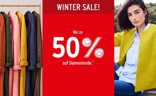 Fashion Winter Sale bei Ernstings Family für Damen, Mädchen und Jungen mit bis zu 50% Rabatt, zB Parka mit Webpelz für 41,99€ statt 69,99€