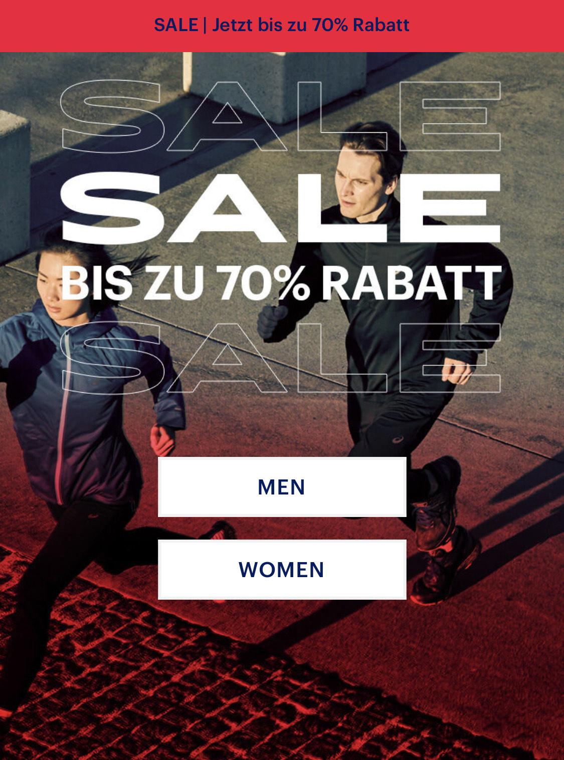 [Asics Outlet] Sale bis zu 70% Herren Damen VSK frei ab 50€