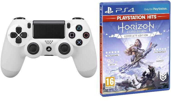 Sony DualShock 4 V2 Weiß Controller + Horizon: Zero Dawn Complete Edition für 55,50€ (Coolshop)