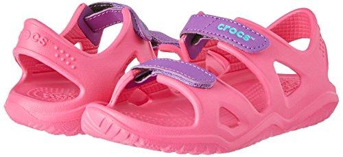 [Prime] Pink Crocs Kinder Swiftwater River K Peeptoe Sandalen