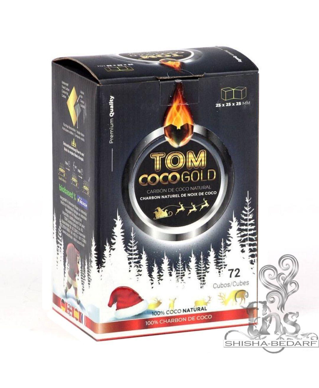 Tom Cococha Gold C25 - 1Kg Shisha / Grill Kohle Weihnachtsedition 1,69€ (Inklusive Rubellos)