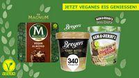 1,50€ Rabatt auf veganes Eis per Marktguru 2x einlösbar - vegan Magnum, Breyers und Ben & Jerry's