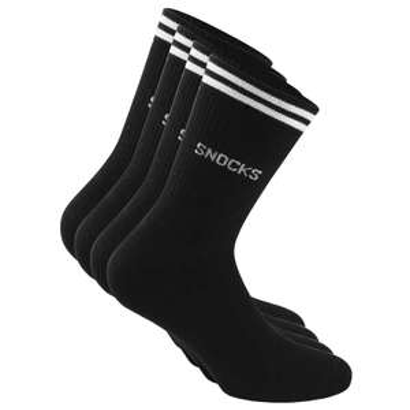Snocks - Retro Socks - 8 Paar Socken - schwarz - Größe 39-42