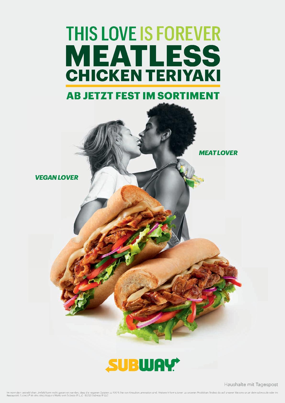[Subway NRW] ab 23.01: 2für1 Chicken Teriyaki (auch Vegan), Footlong für 5,99€ und mehr