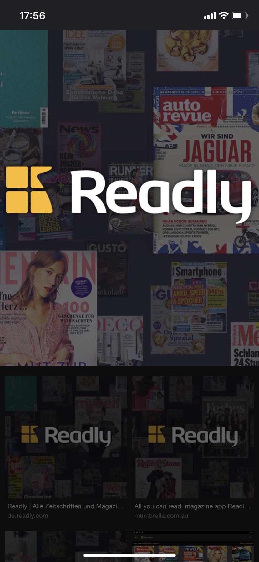 Readly - 2 Monate kostenlos testen (Neukunden)