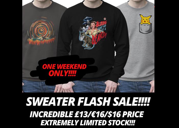 [Qwertee]: Sweater mit wählbarem Motiv für €19,95 inkl. Versand