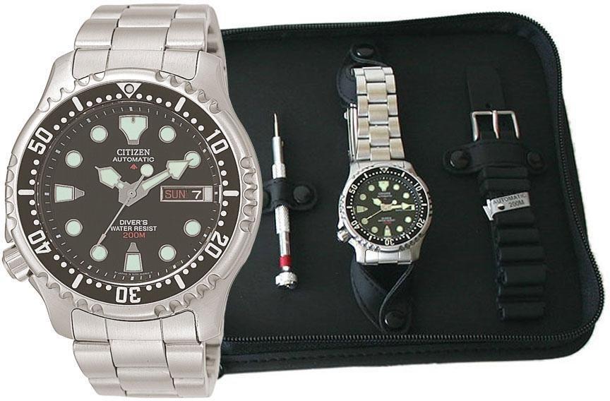 Citizen Automatik Armbanduhr Set Promaster NY0040-09EEM