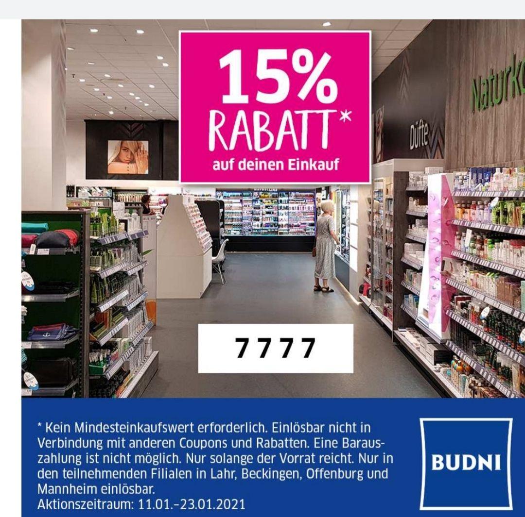 [Lokal]15% auf alles in den Budni Filialen in Beckingen, Lahr, Offenburg und Mannheim