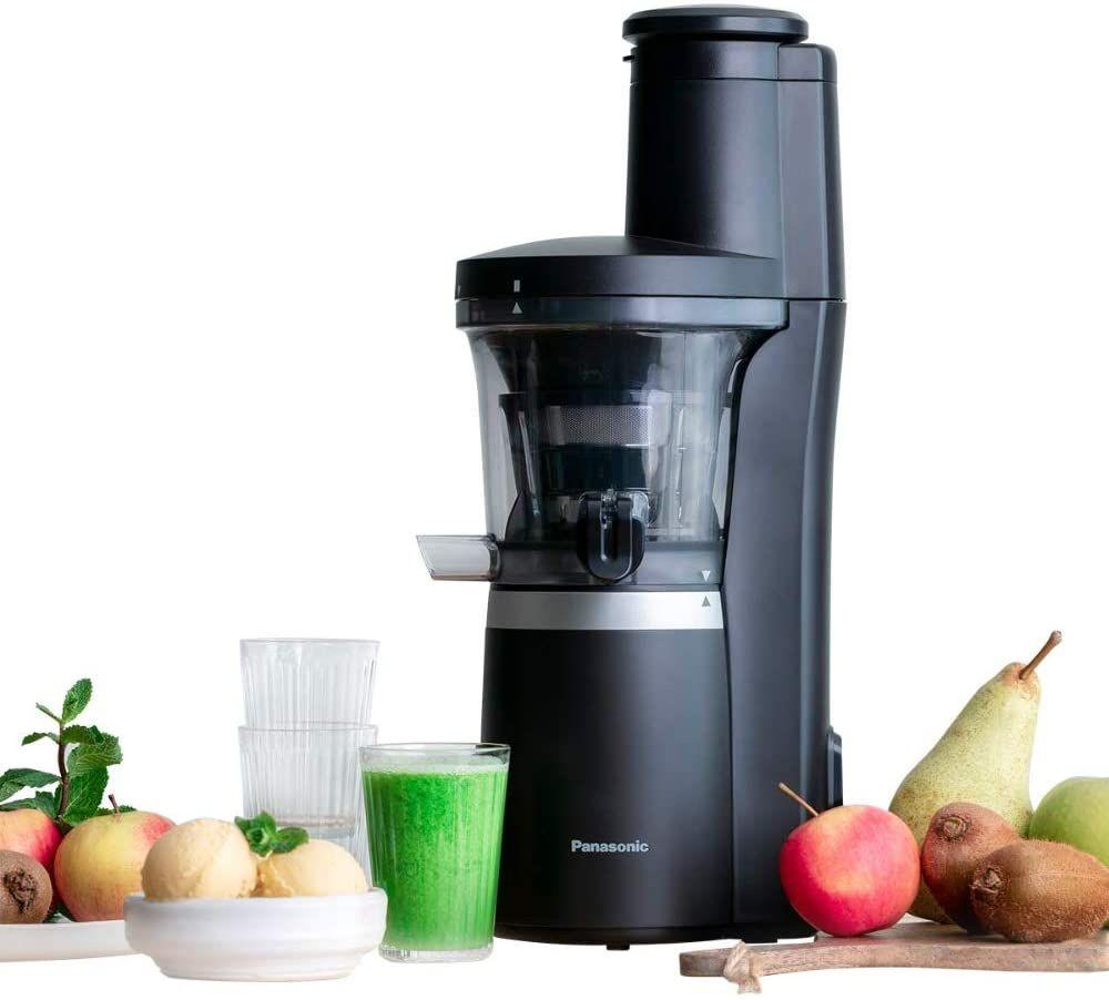 Panasonic Slow Juicer MJ-L700 (Entsafter für Gemüse/Obst, automatische Saftpresse, Sorbet Herstellung, Edelstahl, 150 W) [Amazon]