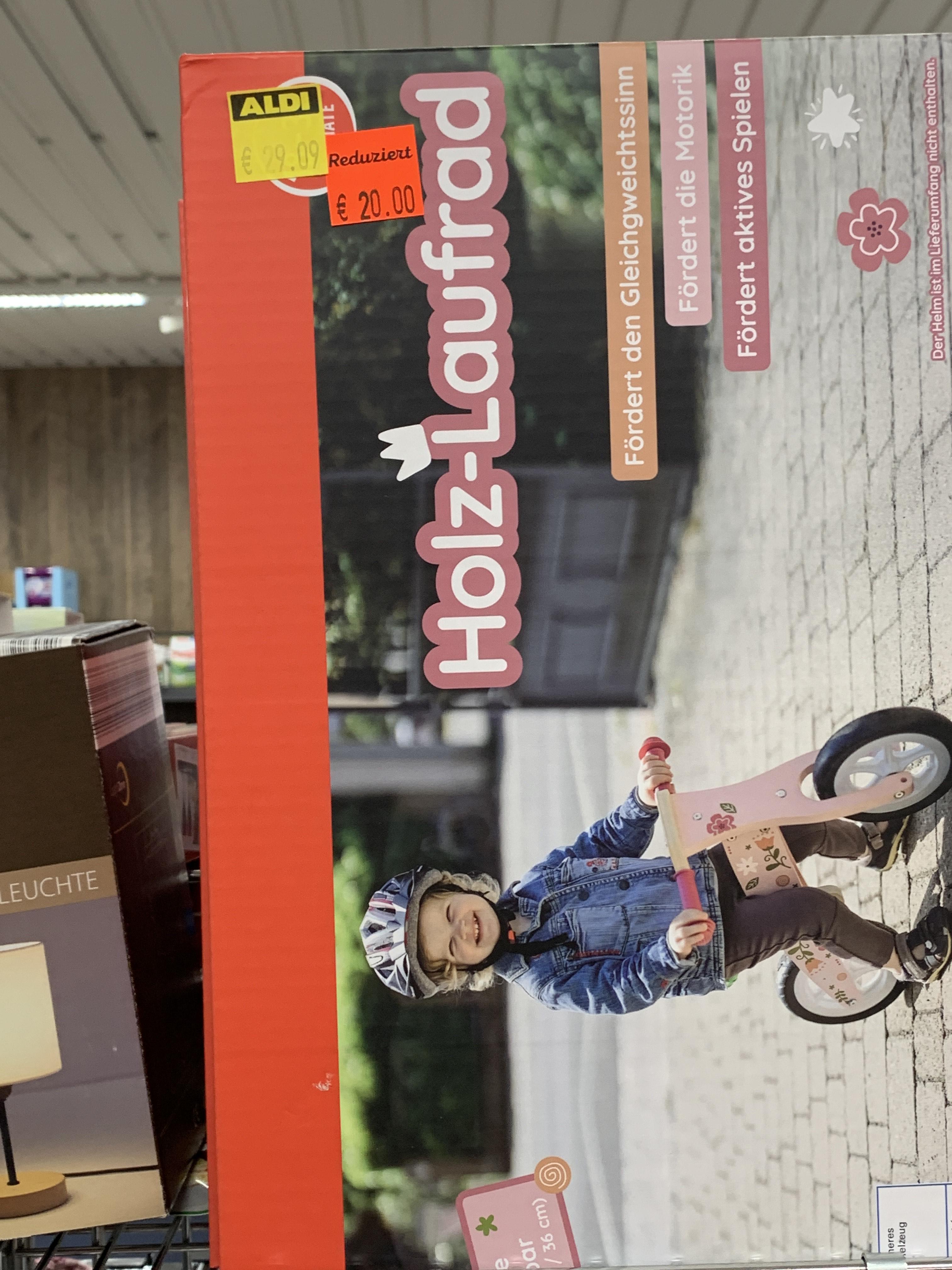 [Lokal] Aldi Nord Wuppertal Elberfeld Holz Roller / Laufrad für Kinder
