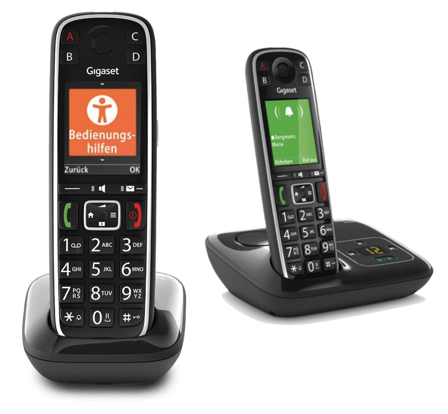 Gigaset E720 elegantes Seniorentelefon mit Bluetooth Hörgeräte-Anbindung, SOS Funktion, Anrufschutz usw. für 54,99€ / auch mit AB