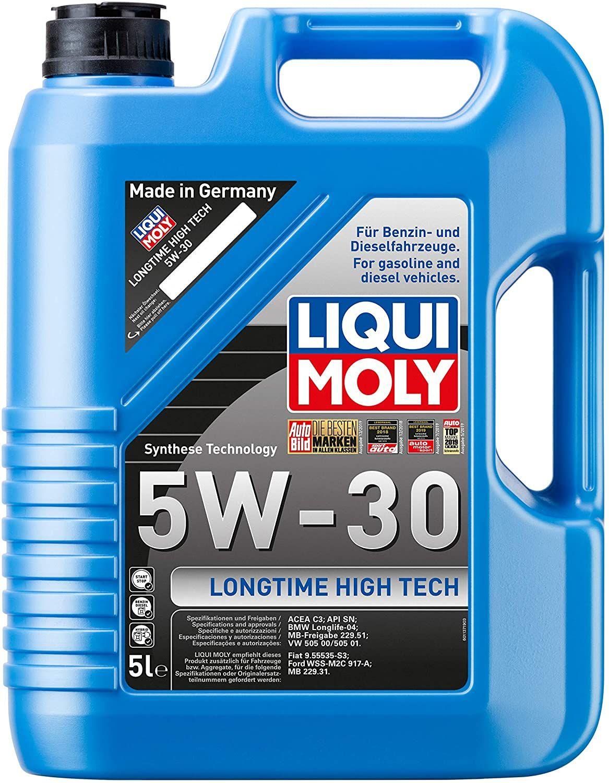 Liqui Moly 1137 Longtime High Tech 5W-30 5 l (ACEA C3, BMW LL04, VW505 00/01, MB 229.51/.31, Fiat, Ford)