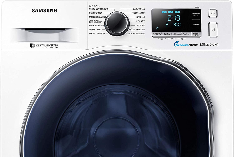 Samsung WD80J6A00AW/EG Waschtrockner 8 kg, 1400 Umdrehungen/Minute, EEK: A