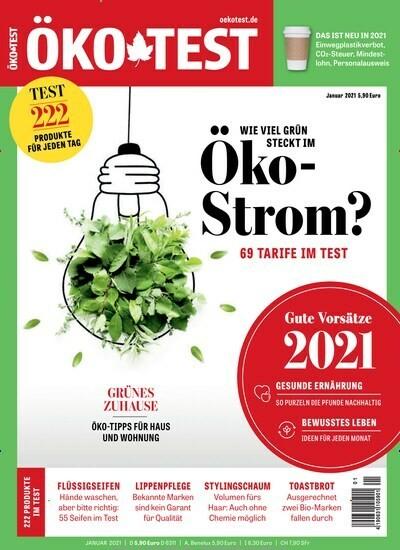 Öko Test Abo (12 Ausgaben) für 63,60 € mit einem 50 € Amazon-Gutschein/ 45 € Verrechnungsscheck