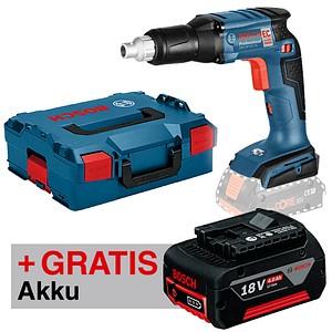 BOSCH GSR 18 V-EC TE Professional Akku-Trockenbauschrauber+Akku+L-Boxx