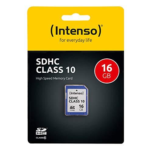 (Prime) Intenso SDHC 16GB Class 10 Speicherkarte blau