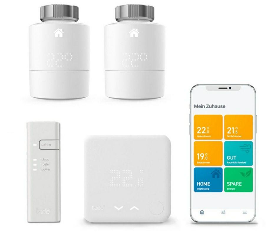 tado° Smartes Thermostat Starter Kit V3+ + 2 Thermostate