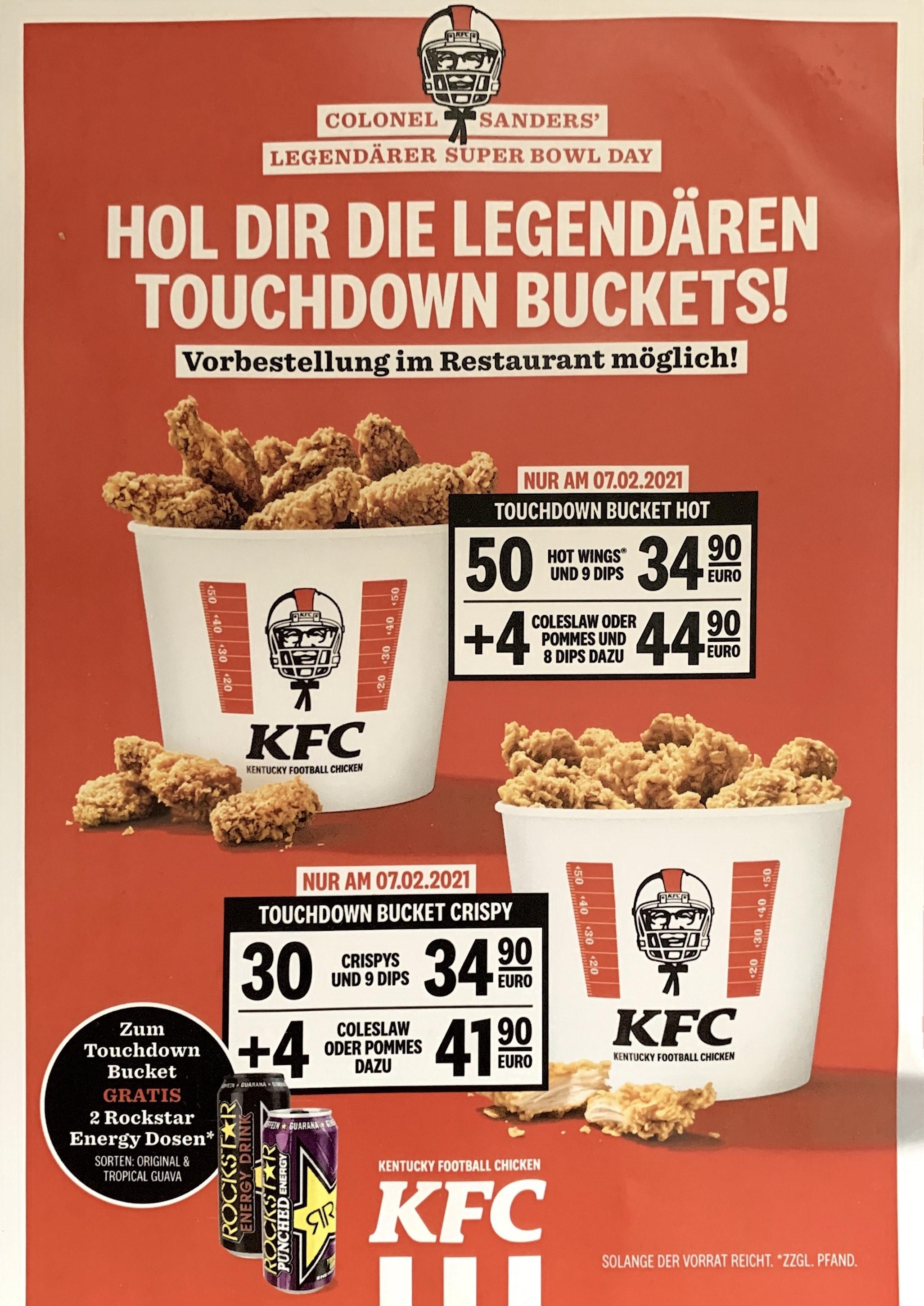KFC Touchdown Bucket Hot & Crispy