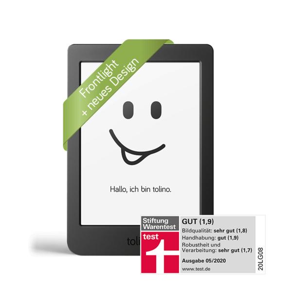 tolino page 2 eBook-Reader 6 Zoll eReader mit integriertem Leselicht