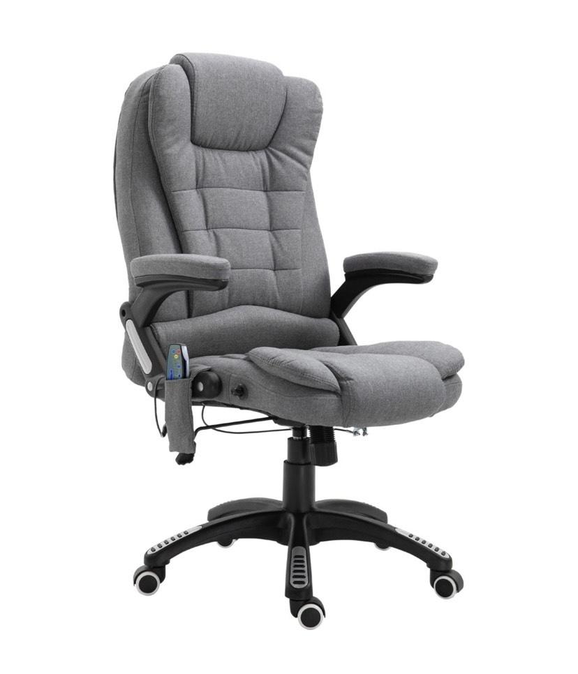 Chefsessel/Drehstuhl mit Massage- und Wärmefunktion 67 x 67 x 116–126 cm (BxTxH)