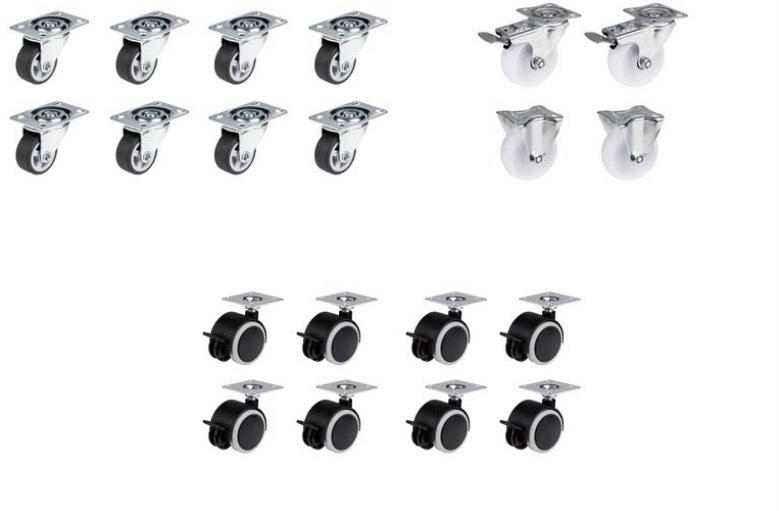 (Lokal) LIDL PARKSIDE® Transportrollen, 4er / 8er Sets in drei verschiedenen Varianten