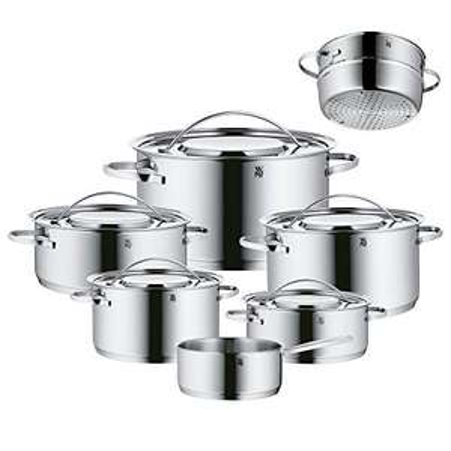 [Amazon Prime] WMF Gala Plus Topfset Induktion 7-teilig, Kochtopf Set m. Metalldeckel, Cromargan Edelstahl poliert, Induktion unbeschichtet