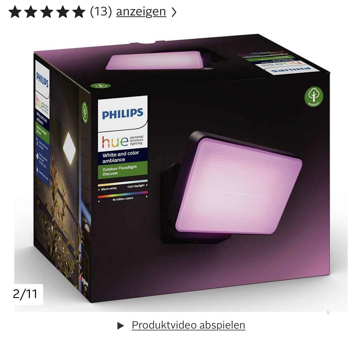 Philips Hue Discover Fluter LED Outdoor Wandleuchte IP44 ZigBee - Neukunden