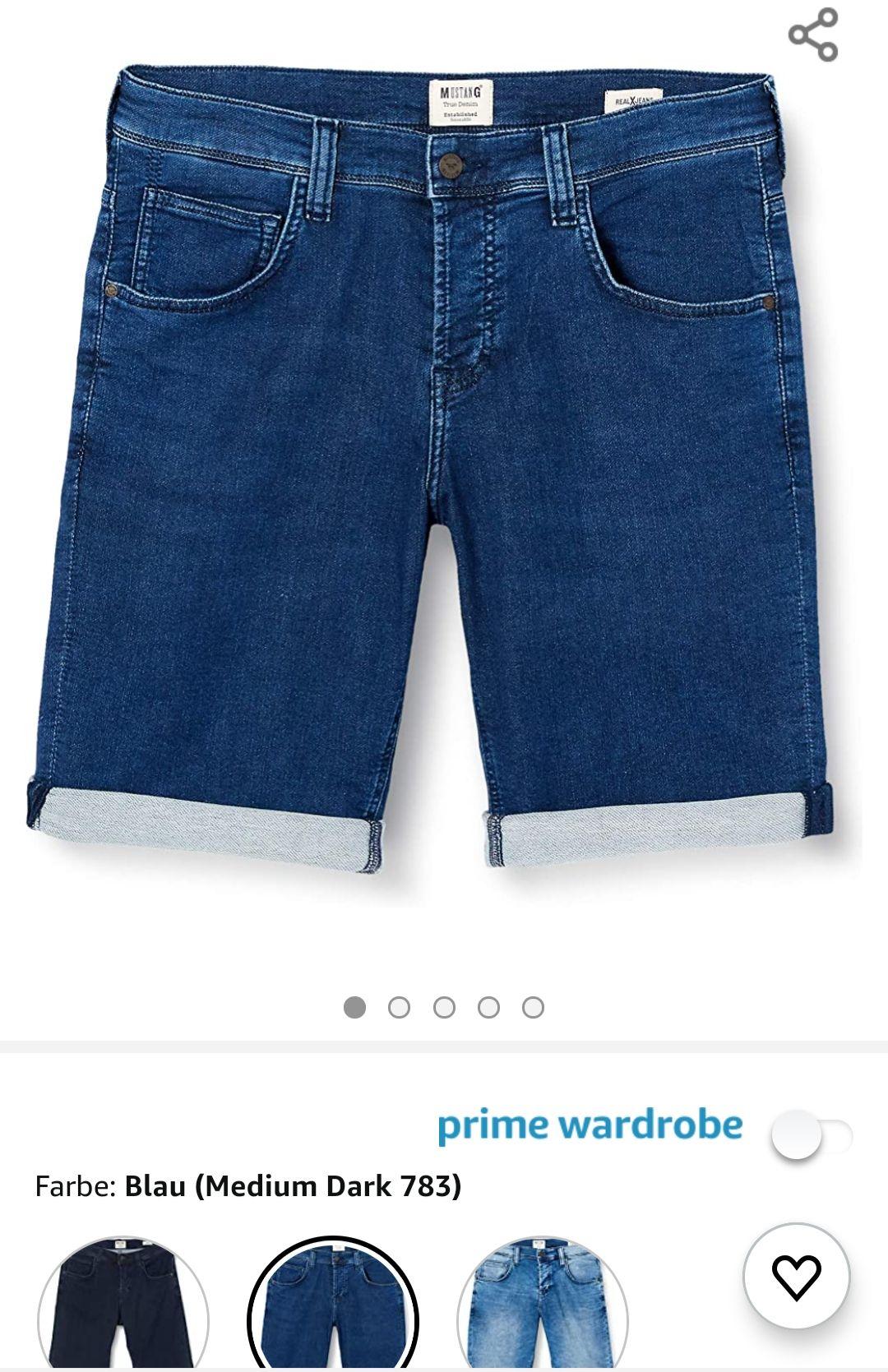 [Amazon] Mustang Herren Jeans Shorts in Blau in W35 eher W34