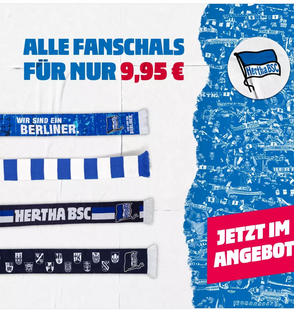 Hertha BSC div. Fan Schals für 9.95