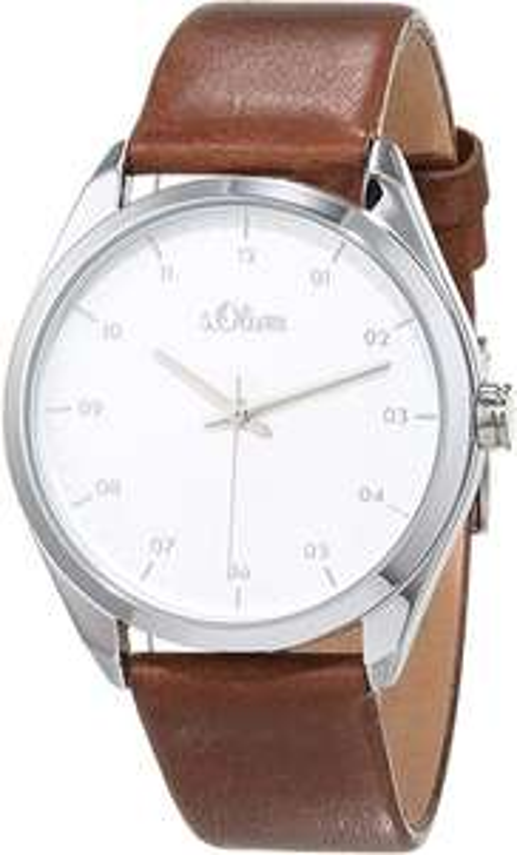 (Amazon Prime) s.Oliver Damen Analog Quarz Uhr mit Leder Armband SO-3734-LQ