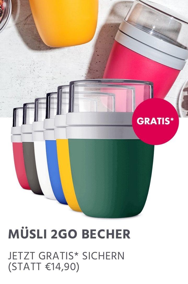 Müsli 2GO Becher Gratis ab 15€ für Neukunden