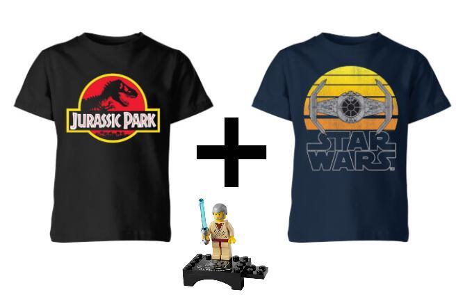 2 x Lego, Potter, Star Wars oder Nintendo KinderShirts + Lego Minifigur für 16,48 € @ Zavvi