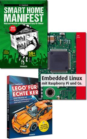 PC & Elektronik Buchpaket - Maker, Arduino, Raspberry Pi, Linux, LEGO (3 Bücher) für 13,94 Euro [terrashop]